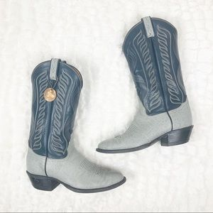 VTG Tony Lama Gold Label leather cowboy boots